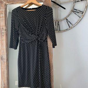 The Limited Black Polka Dot Jersey Dress